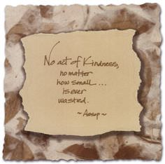 No Act of Kindness, No Matter How Small Is Ever Wasted – Aesop