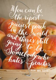 You Can Be Ripest, Juiciest Peach in the World, and There's Still Going to Be Somebody Who Hates Peaches