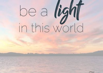 Be a Light in This World